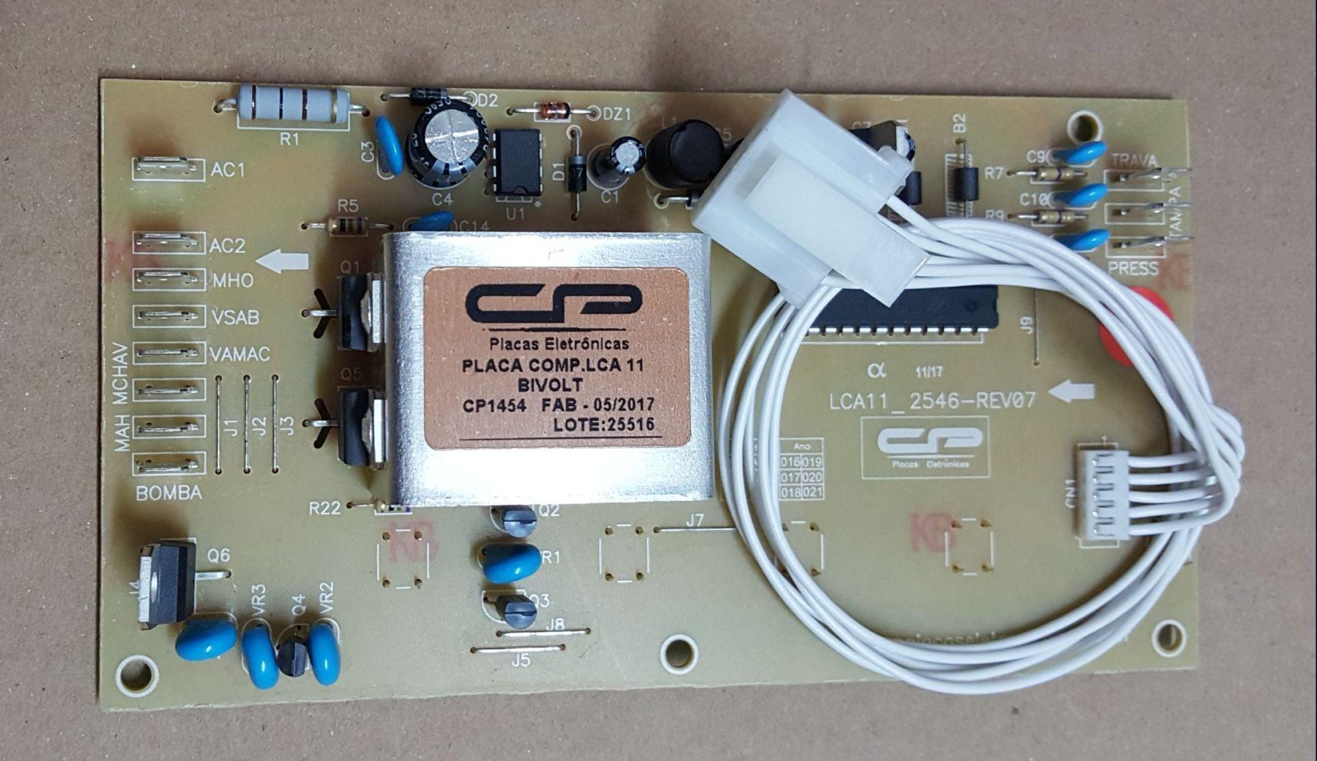 Placa Eletrônica para Lavadora Colormaq LCA 11 Kg - Bivolt - CP 1454