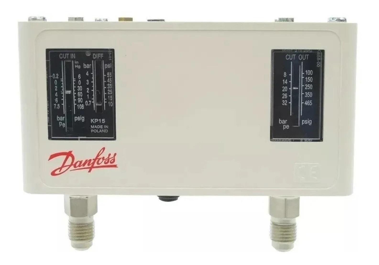 Pressostato De Alta Baixa Kp15 Automático Danfoss 060124191