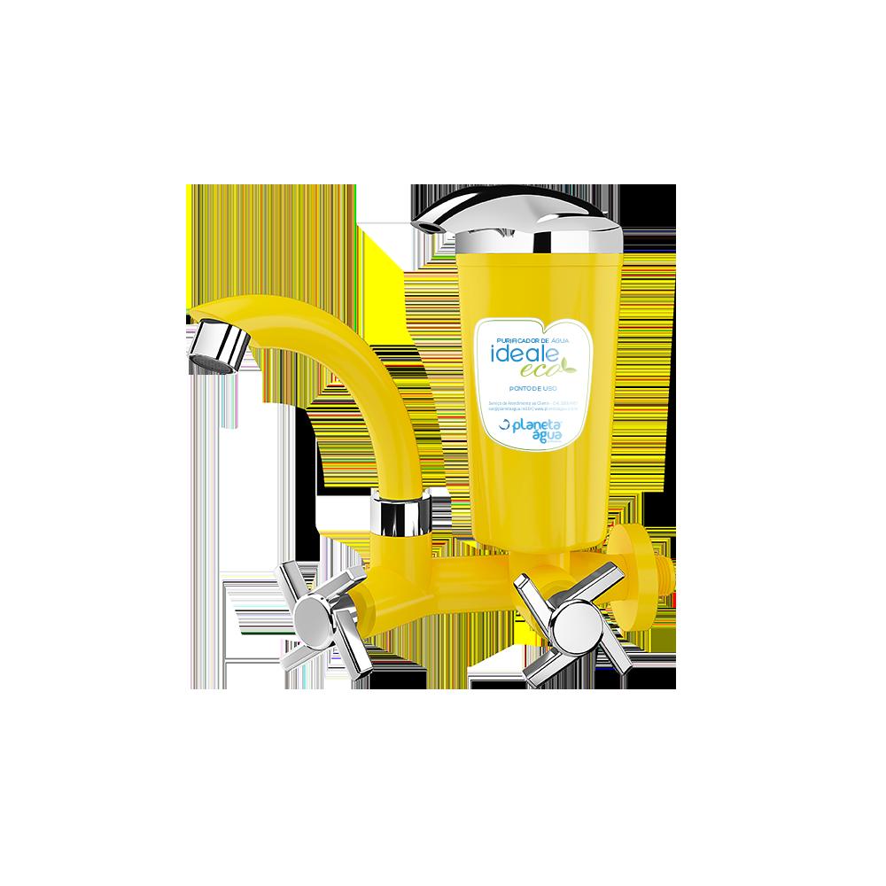 Purificador Ideale Eco Amarelo Cromado - Planeta Água