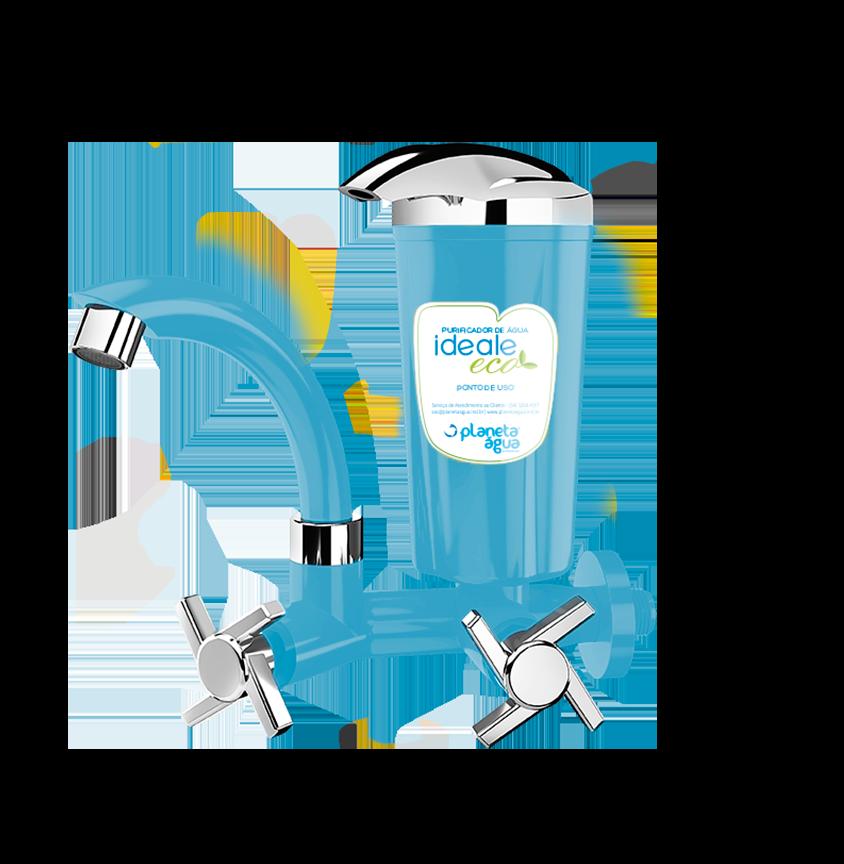 Purificador Ideale Eco Azul Cromado - Planeta Água