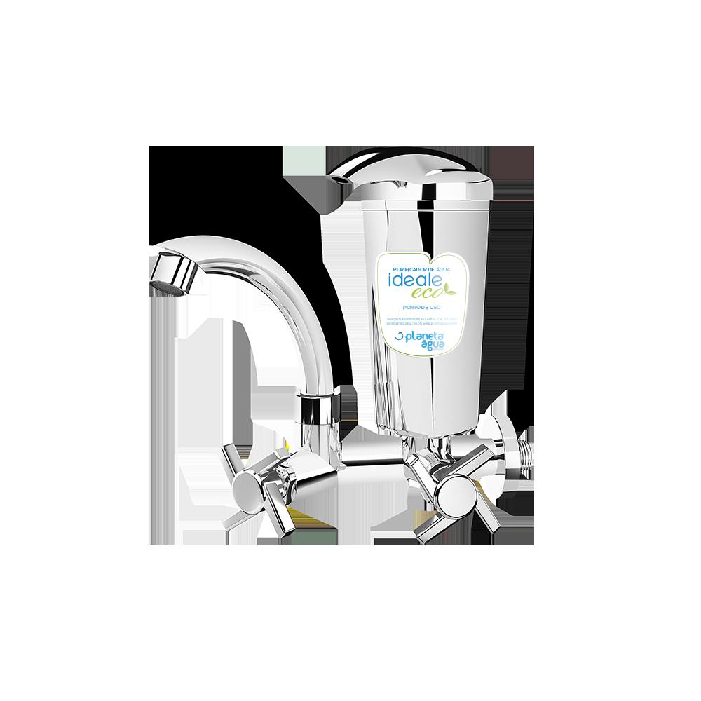 Purificador Ideale Eco Cromado Inox - Planeta Água