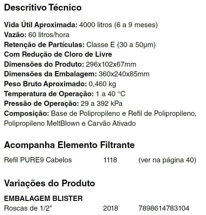 PURIFICADOR PURE9 COM CARVÃO ATIVADO PARA SALÃO DE BELEZA - Cod. 2018