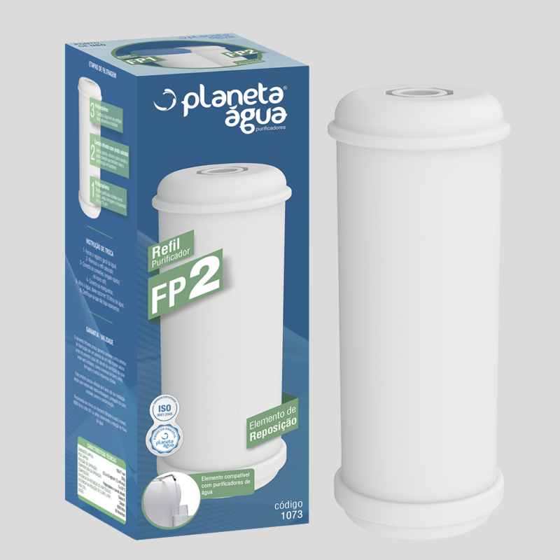 Refil FP2 para Purificadores Lider - Hoken - Aquastar - Planeta Água