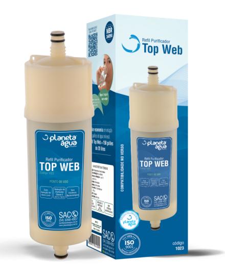 REFIL TOP WEB  PURIFICADOR EUROPA HF BY HEBE / BLISS - Planeta Água