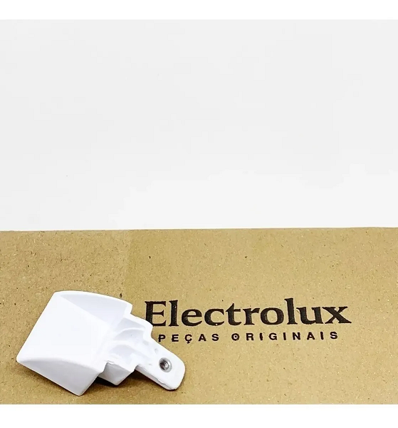 Suporte Inferior Branco Puxador para Refrigerador Electrolux 67405516 - Modelos DFW52 / DF51 / DF52 / DF42 - Original