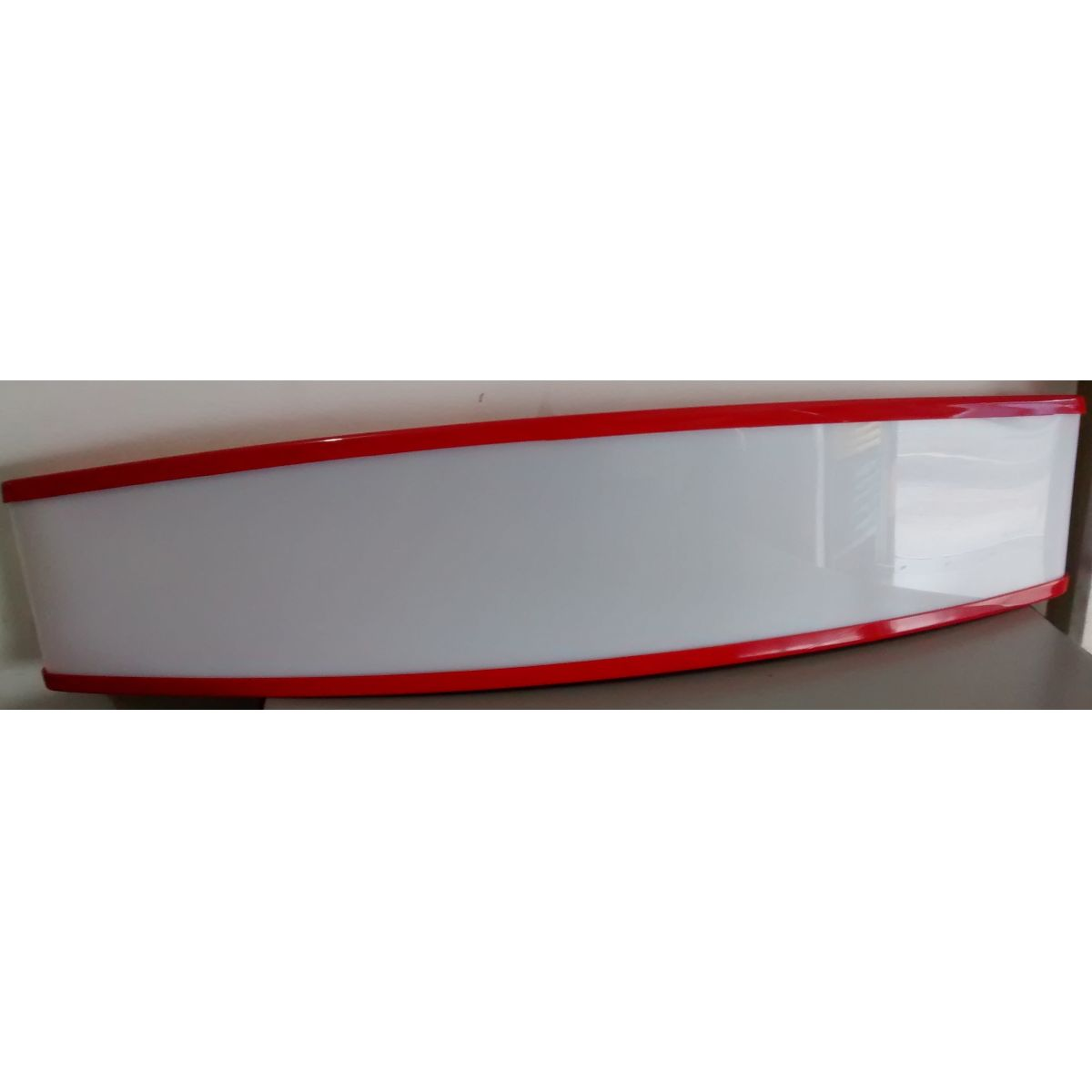 Testeira Expositor Metalfrio Vermelha Medidas 19 x 67 cm - PI493