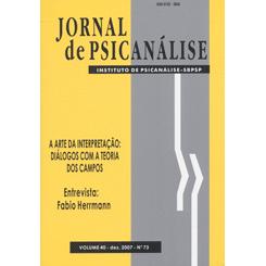 Jornal de Psicanálise Vol. 40 Nº 73
