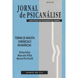 Jornal de Psicanálise Vol. 38 Nº 69