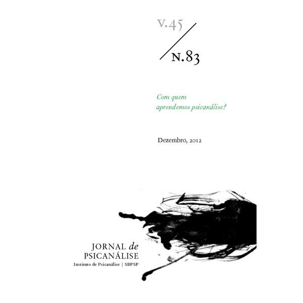 Jornal de Psicanálise Vol. 45 Nº 83