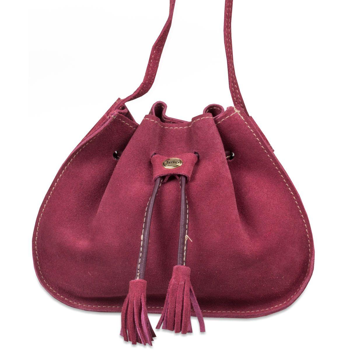 Bolsa Saco Couro Feminina Artlux  1c512ee1001