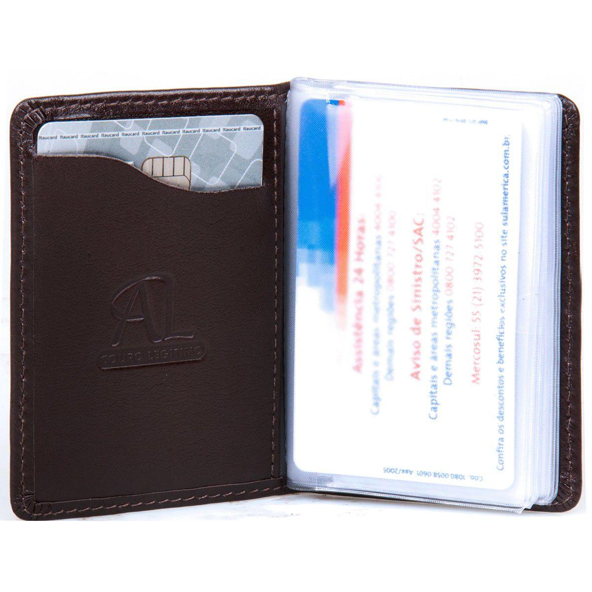 Porta Cartão Artlux Masculino Marrom