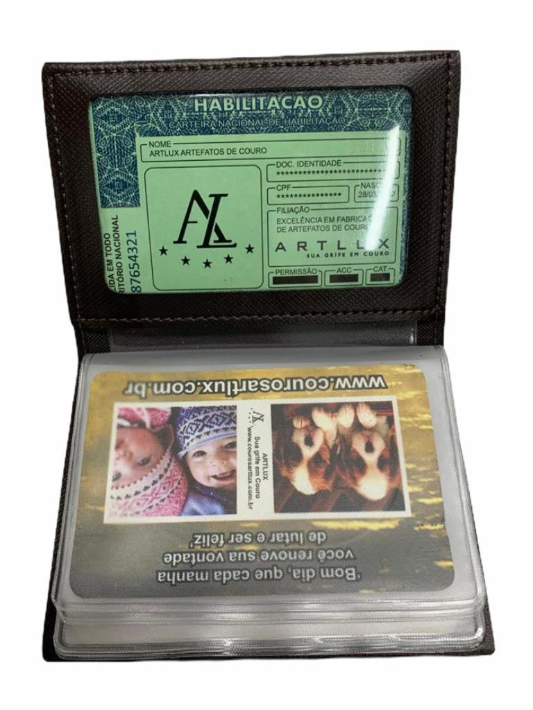 Porta Cartão e CNH de Sintético Artlux