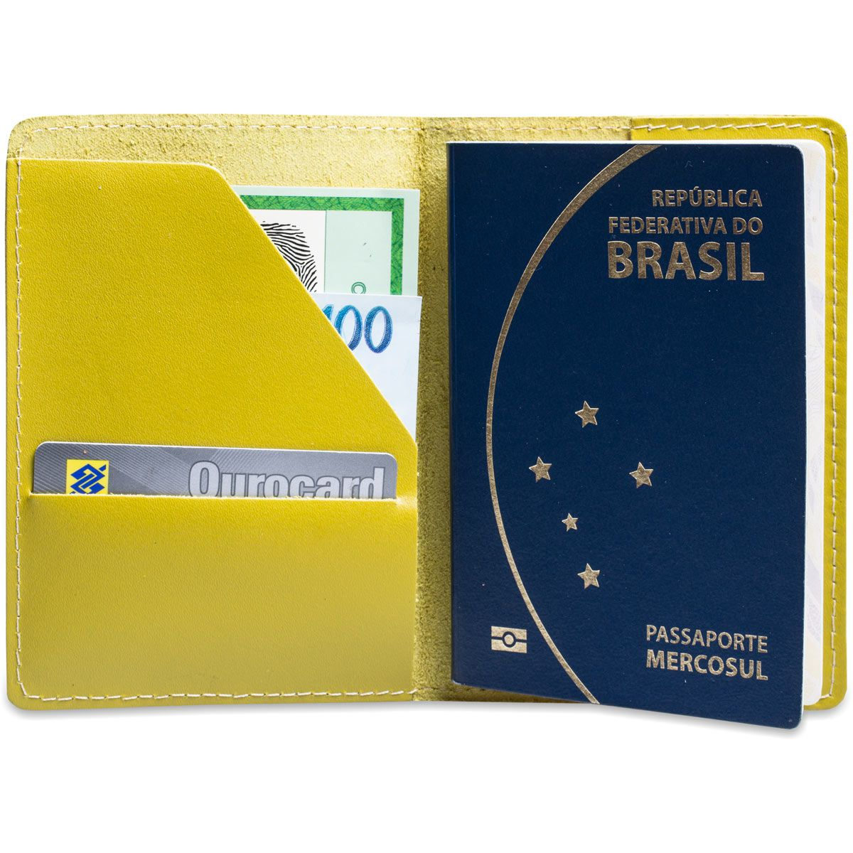 Porta Passaporte em Couro Artlux