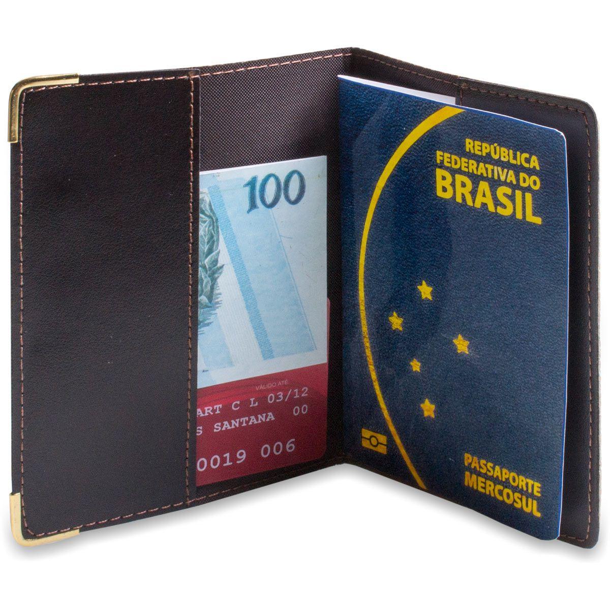 Porta Passaporte  Show de Couro