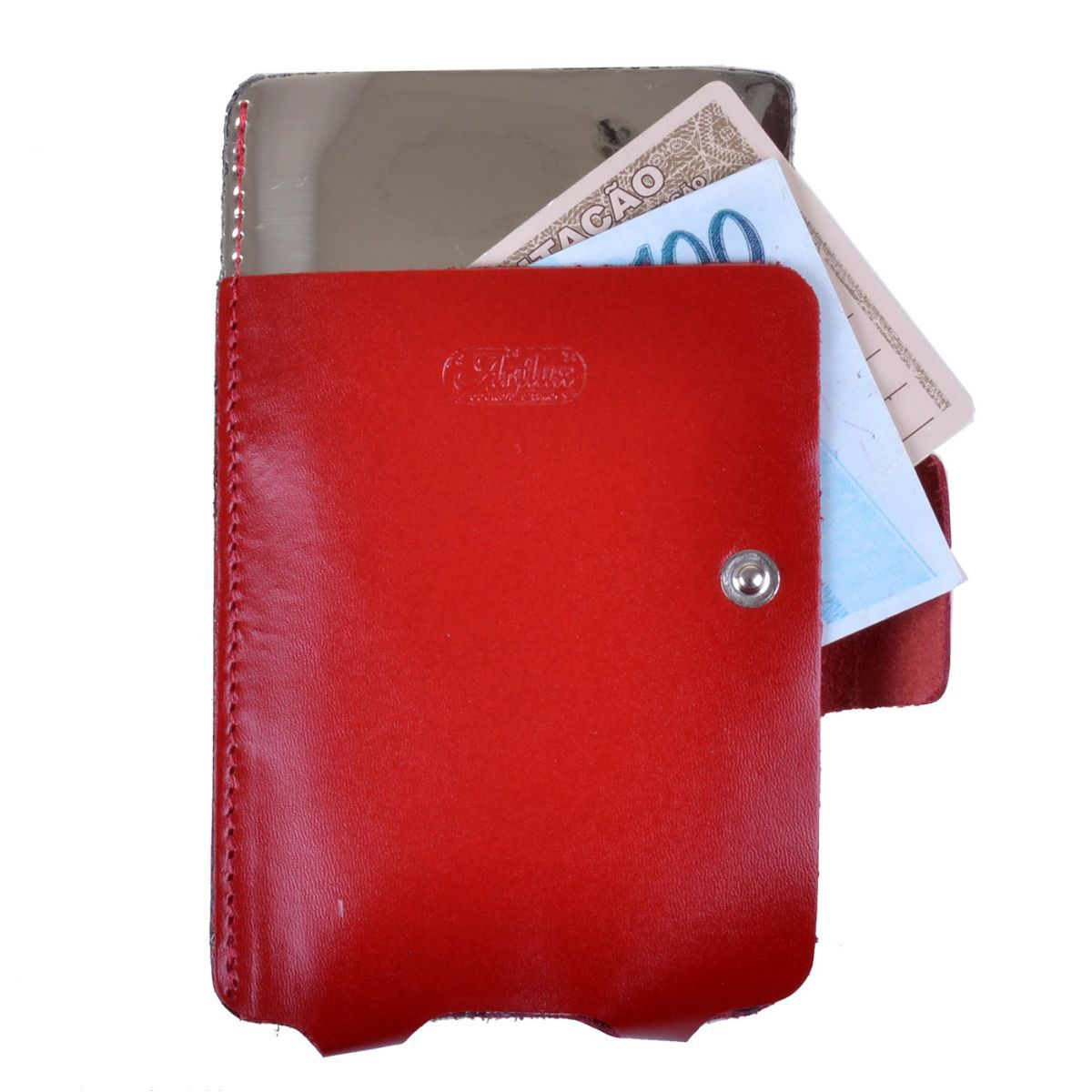 Case p/ celular pequeno / Porta Documentos em Couro