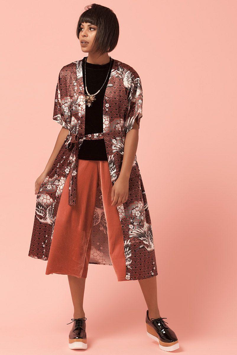 Kimono Cetim Nature Beauty