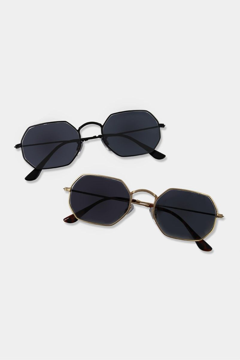 Oculos Vintage 90s Hexagon