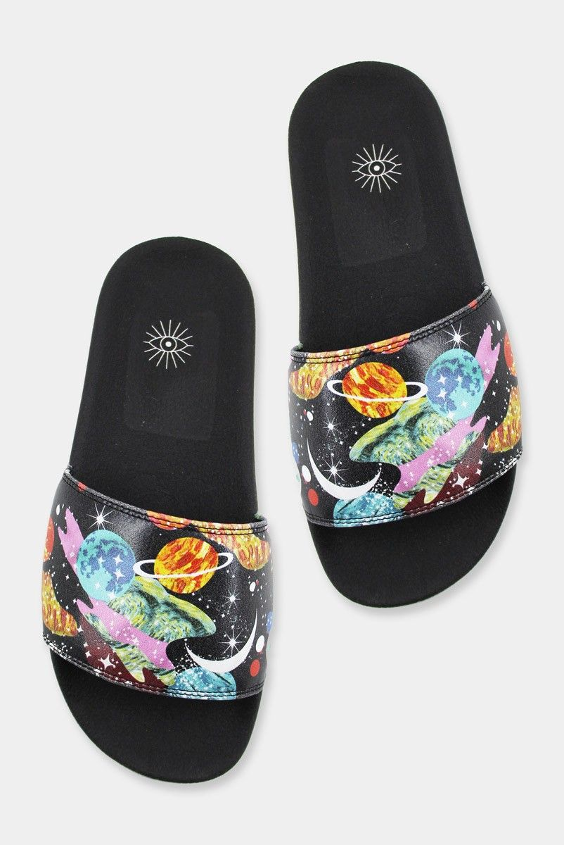 Chinelo Slide Estampado - PLANETAS