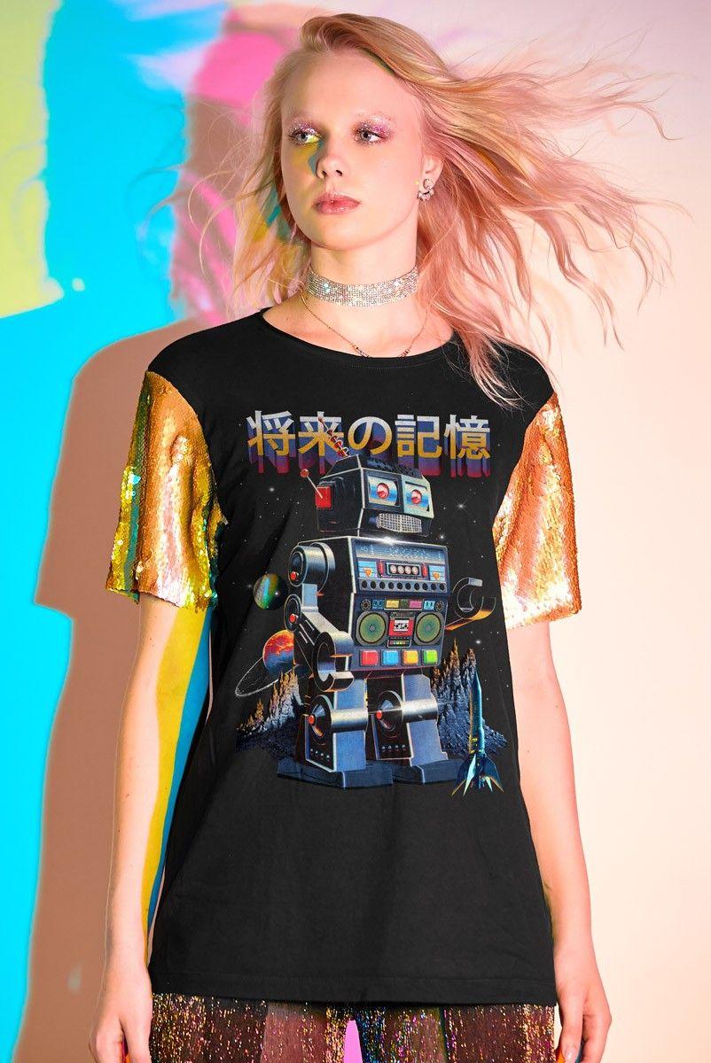 T-shirt Future Memory ROBÔ Glam - Edição Limitada