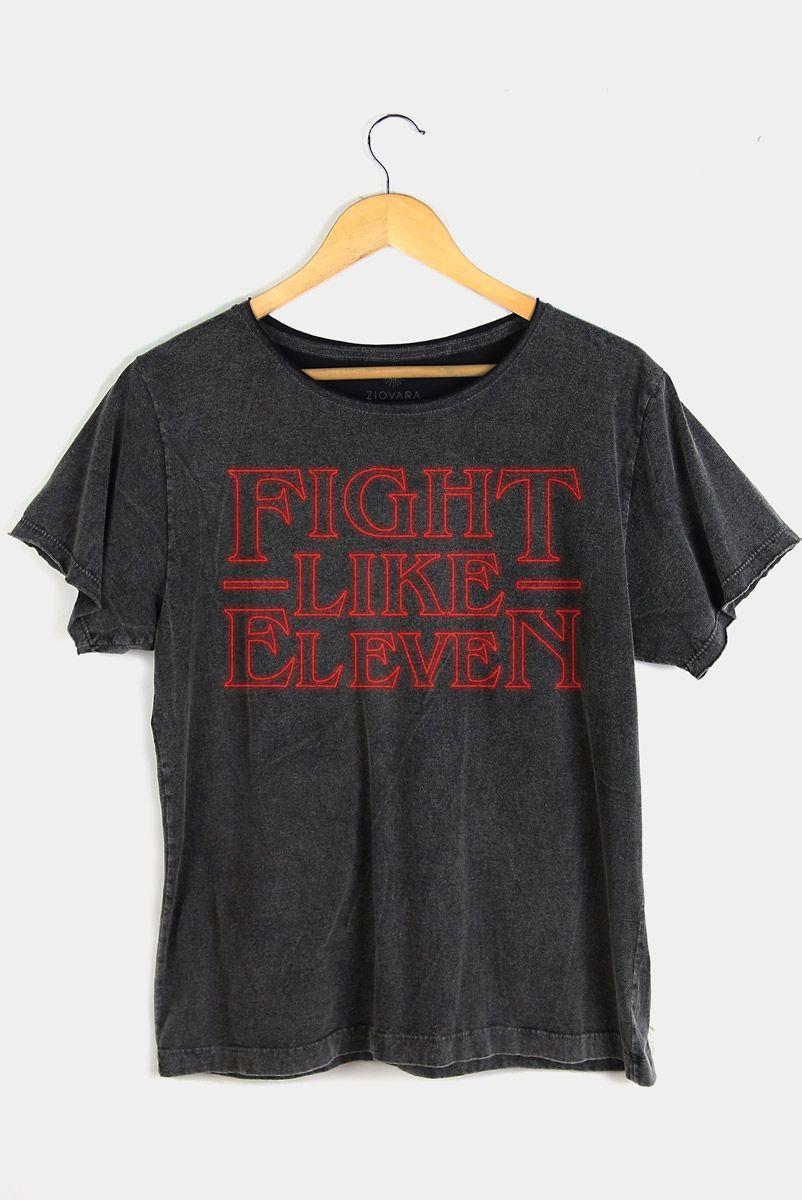 T-shirt PLUS Fight Like Eleven   Stranger Things