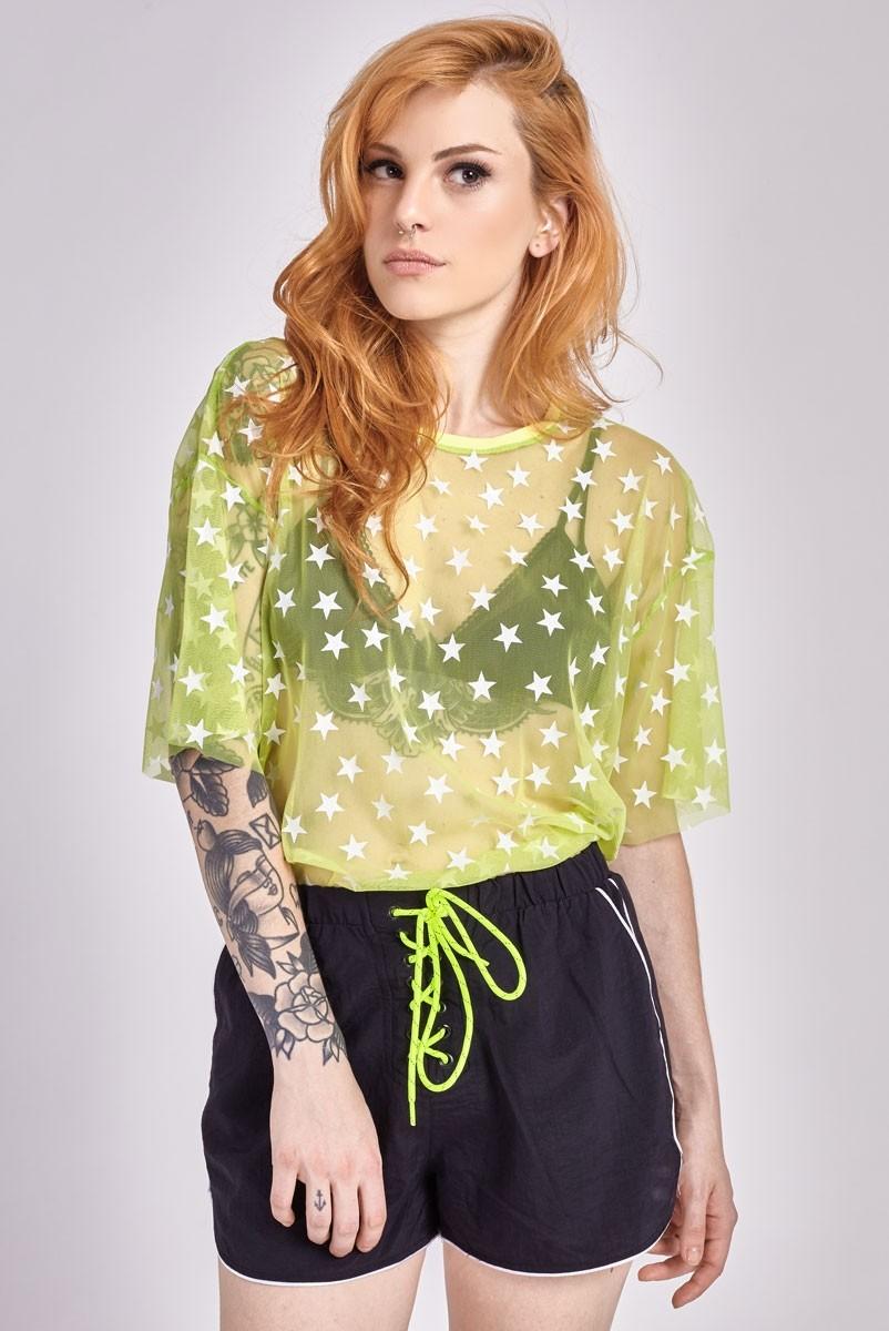 T-shirt Tule Lemon Stars