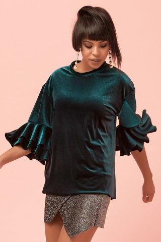 Blusa Veludo Green