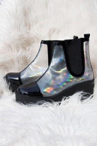 Bota Chelsea Cristal Holográfica