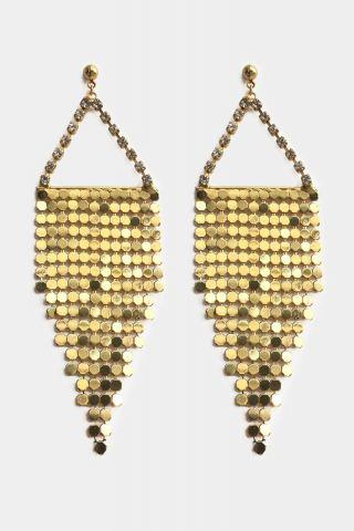 Brincos Malha Gold 80s
