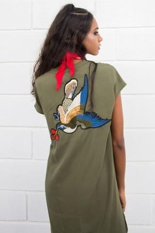Vestido Camisa Bordada Songbird