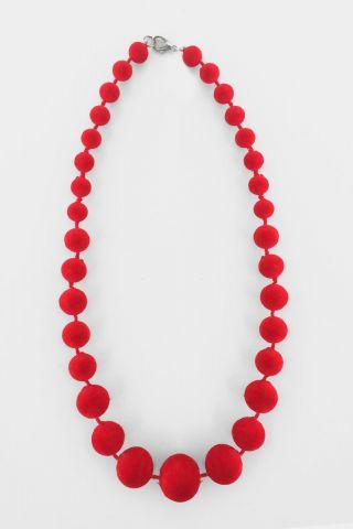 Colar Bolinha Red Velvet