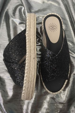 Flatform Cruise Glitter Black