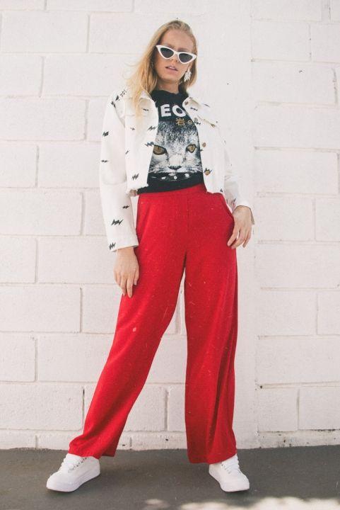 Jaqueta Jeans Cropped Branca Raios