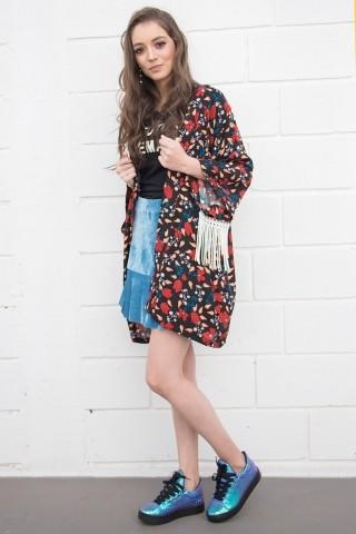 Kimono Franja Desert Rose