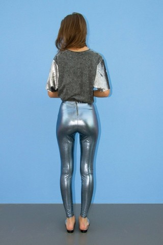 Calça Legging Metalica Hey Baby