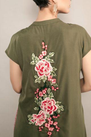 Maxi Camisa Bordada Secret