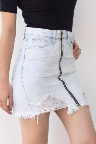 Saia Jeans Destroyed Clara
