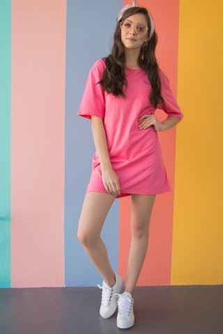 T-shirt Dress Pretty In Pink
