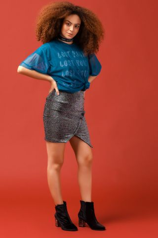 T-shirt Dress Tule Blue