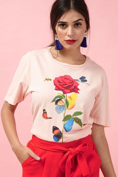T-shirt Peach Insetos INSECTA