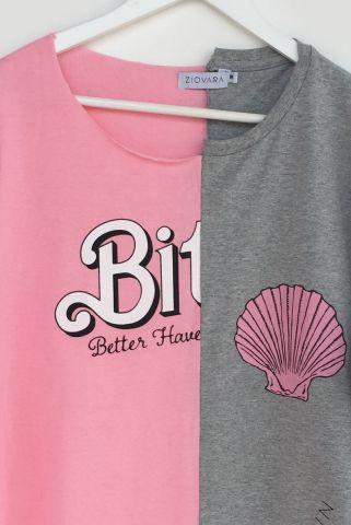 T-shirt REUZIO | bitch + mermaid | Tamanho: M