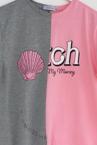 T-shirt REUZIO | mermaid + bitch | Tamanho: M