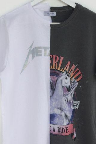 T-shirt REUZIO | metal + uni | Tamanho: P