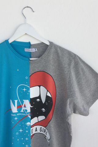 T-shirt REUZIO | nasa + fight | Tamanho: M