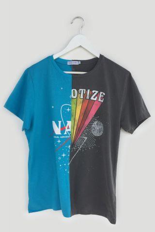 T-shirt REUZIO | nasa + hypno| Tamanho:  P