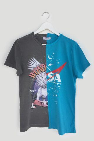 T-shirt REUZIO | uni + nasa| Tamanho: G