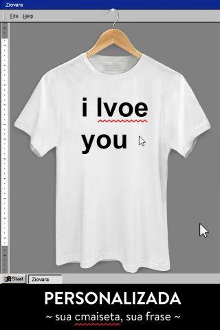 T-shirt Text - PERSONALIZADA