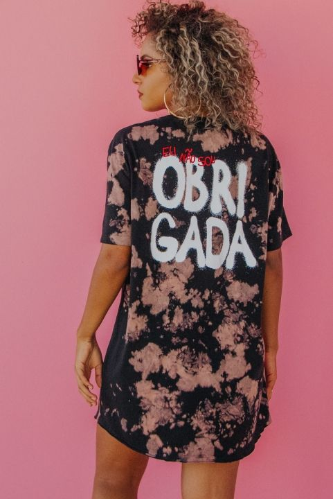T-shirt Tie Dye OBRIGADA