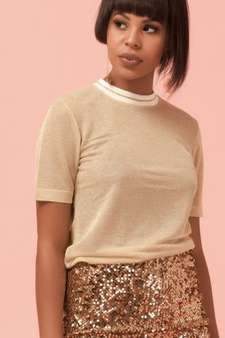 T-shirt Tule Bells Gold