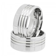 Aliança de Namoro, Compromisso Aço Chrome Triple 10mm - O Par