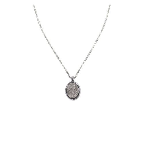 Colar de Prata Pedra Drusa Semi Joias | Linha Sabrina Joias